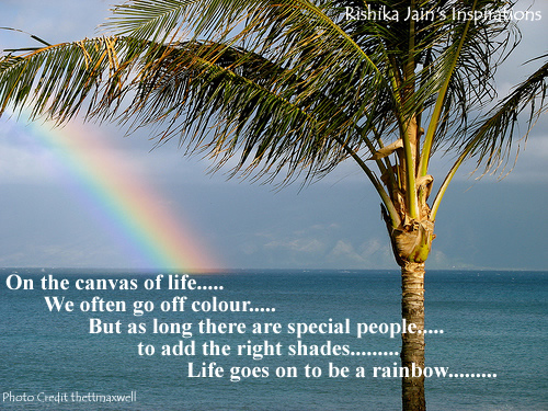 Quotation On Rainbow: Life Quotes, Rainbow Quotes, Canvas Of Life