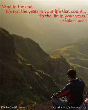 Life in the years - Inspirational Quotes, Motivational Thoughts and Pictures