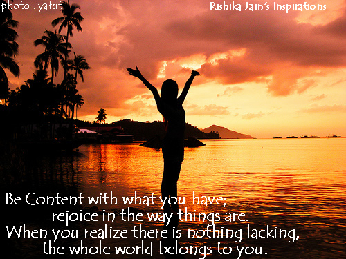 Content Quotes, Pictures, Inspirational Quotes on Contentment and Joy, Motivational Thoughts and Pictures