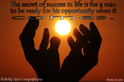 Inspiring Quotes on The-secret-of-success-in-life , Motivational Thoughts