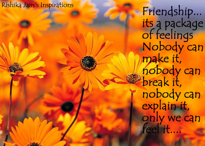 Friendship Quotes - Pictures - Package of Feelings - Inspirational Pictures and Motivational Quotes