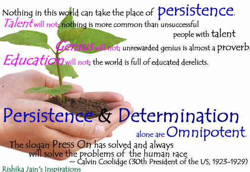 how to develop persistence and determination