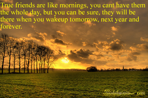 Motivational Quotes For Friends With Images : True friends are like mornings friendship quotes