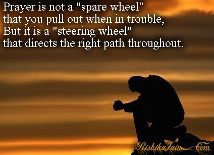 prayer is not a spare wheel prayer quotes pictures