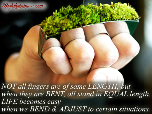 all five fingers are not same quotes