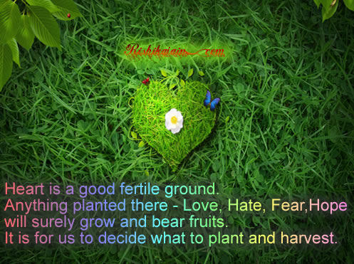 Heart , Love, Hate, Fear, Hope, Quotes ,  Inspirational Quotes, Motivational Thoughts and Pictures