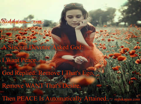 god,peace,ego,desire,Happiness- Inspirational Quotes, Motivational Thoughts and Pictures