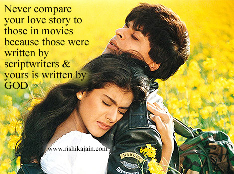 Shahrukh Khan & Kajol / Dilwale Dulhania Le Jayenge,Love Quotes – Inspirational Pictures, Quotes and Motivational Thoughts, Valentine message/quotes ,love story