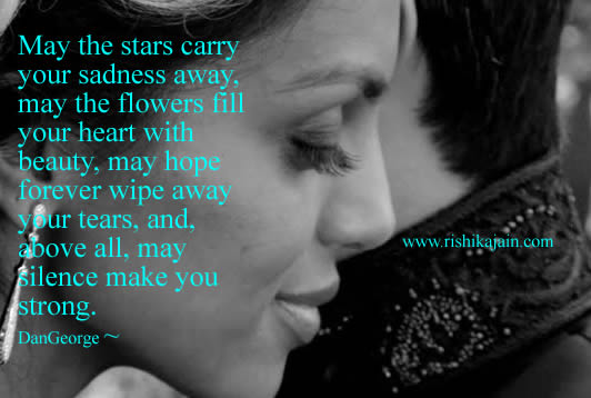 may the stars carry your sadness away inspirational