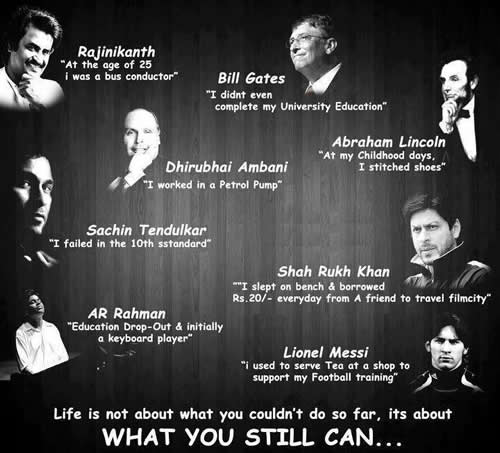 rajnikanth,bill gates,sachin tendulkar,shah rukh khan,abraham lincoin,Ability and Qualities - Wisdom Quotes, Pictures and Thoughts   ,time,think, happiness, compare, smile,leader,great people of the world