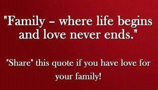 family where life begins inspirational quotes