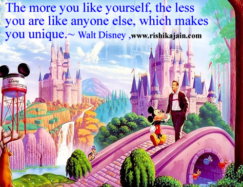 Walt Disney,Ability and Qualities - Wisdom Quotes, Pictures and Thoughts ,like,unique,love yourself,