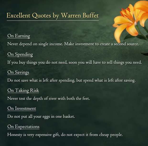 Warren Buffett , Enrichwise, Quotes, Business , Investing, Leadership