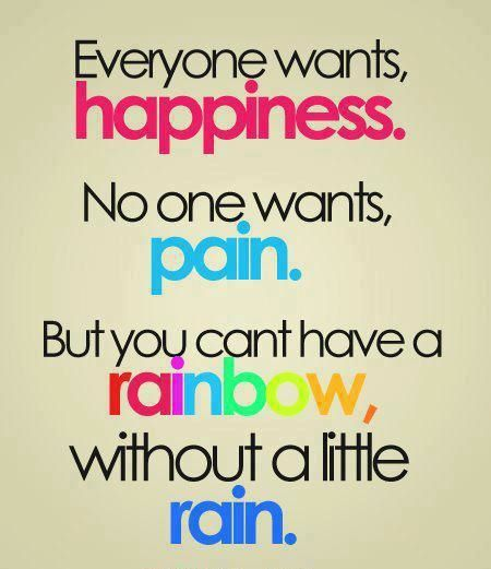 Happiness,Pain,Rainbow,Rain,Quotes,Inspirational,Motivational,Pictures,Thoughts