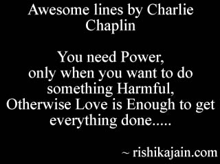 Charlie Chaplin,Love Quotes /power  – Inspirational Pictures, Quotes and Motivational Thoughts ,