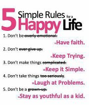 rules, happy, life, faith, laugh, youth, inspirational quotes, wise, motivational thoughts