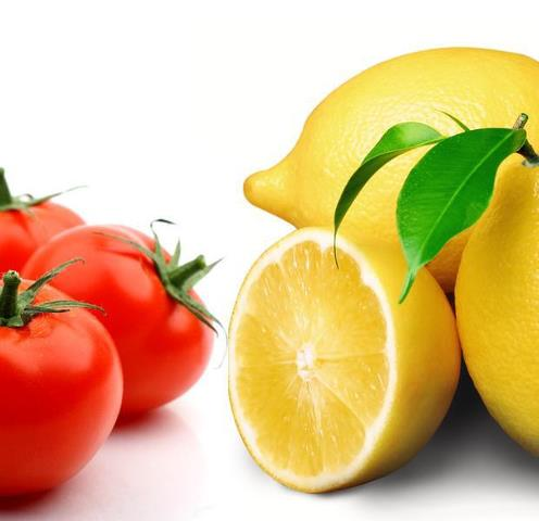 tomato lemon for skin