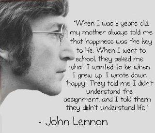 life,John Lennon,Happiness- Inspirational Quotes, Motivational Thoughts and Pictures