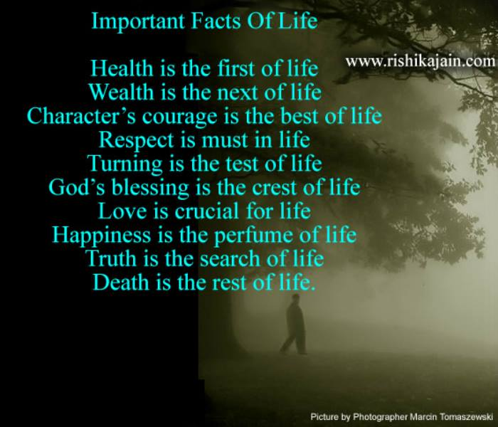 Important Facts Of Lifelife Quote Inspirational Quotes Pictures Stunning Important Life Quotes