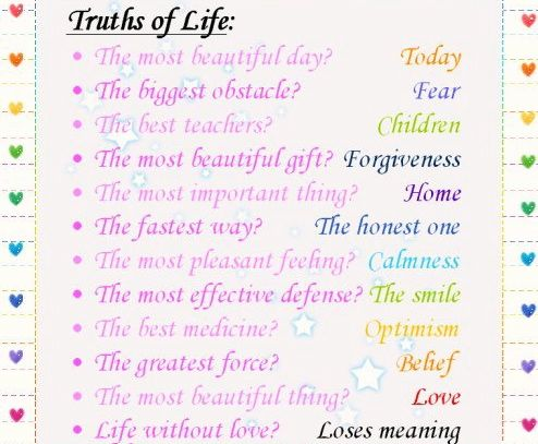 truth, gift, honesty, optimism, belief, love, life meaning, children, inspirational quotes, beautiful pictures