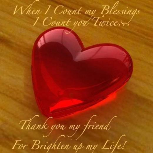 blessing,Thank you my friend Quote,message,sms,Friendship Quotes- Inspirational Quotes, Motivational Thoughts and Pictures,