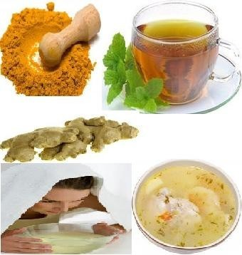 health advice,Home Remedies for Cold & Cough:tips,fresh tulsi ,honey, ginger juice ,mint and eucalyptuses leaves , grape juice