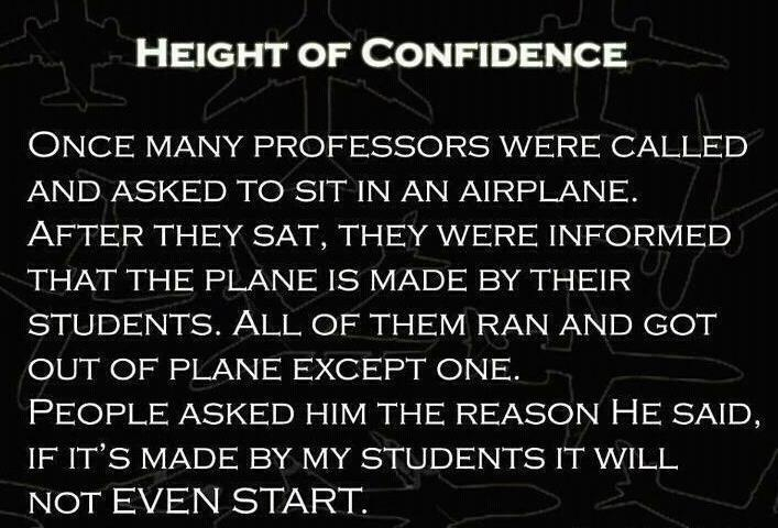 Joke of the Day , Humorous Pictures , Height of Confidence , Laugh , Enjoy