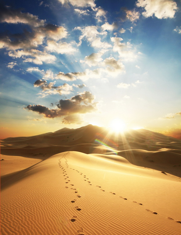 Good Morning,Beautiful Places , Pictures of the World,Sahara Desert , Sahara Sunset