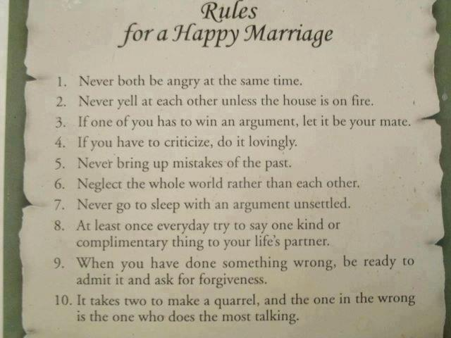 Beautiful Thoughts, Rules, Happy Marriage , Husband Wife , Inspirational Quotes , Pictures