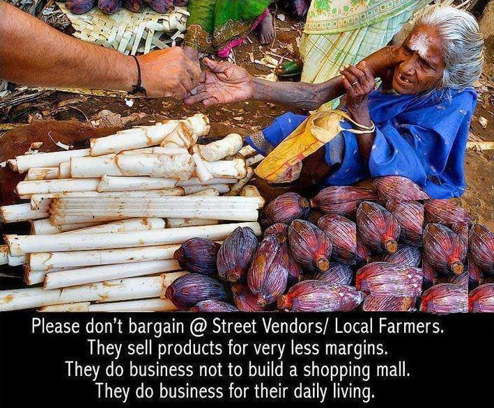 bargain,street vendors,local farmers,Kindness , Inspirational Quotes, Pictures and Motivational Thought  ,help others,