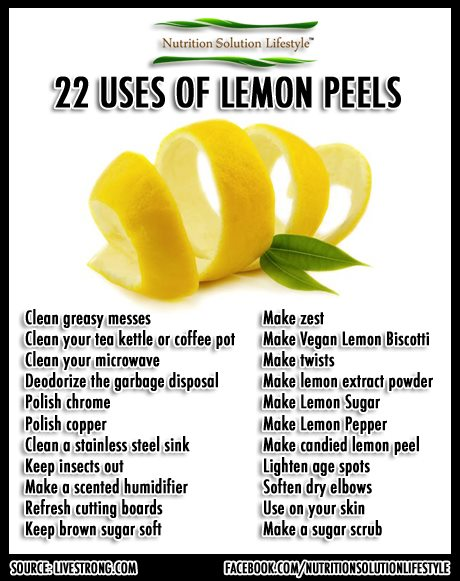 uses of lemon peels,lemon