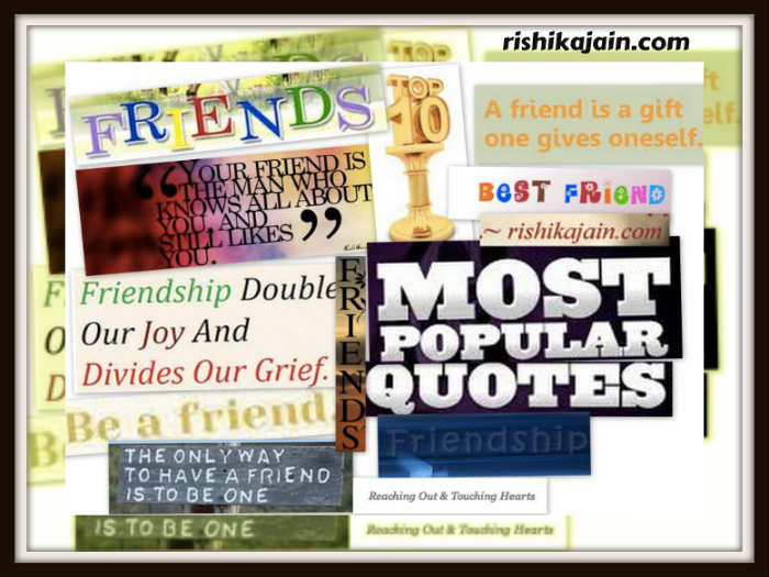 Touching Quotes About Friendship Simple Top 10 And Most Popular Friendship Quotes  Inspirational Quotes