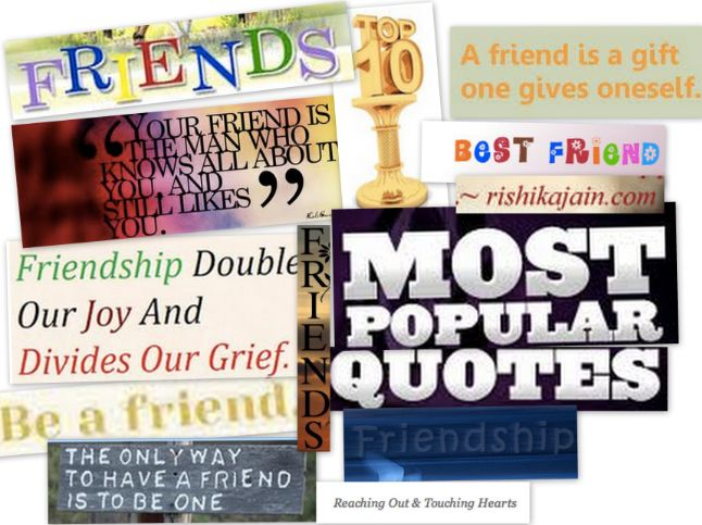 Inspiring Quotes About Friendship Fascinating Top 10 And Most Popular Friendship Quotes  Inspirational Quotes