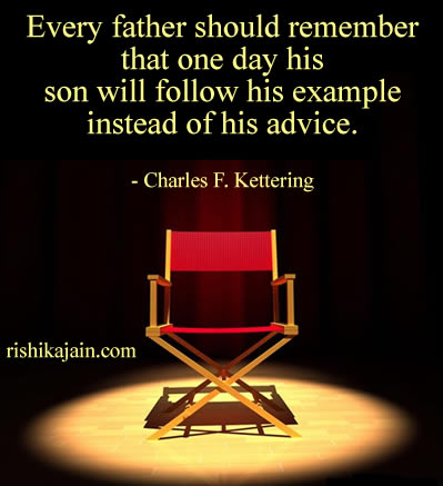 father,son,Charles F. Kettering,Parents-Children / Inspirational Quotes, Motivational Thoughts and Pictures