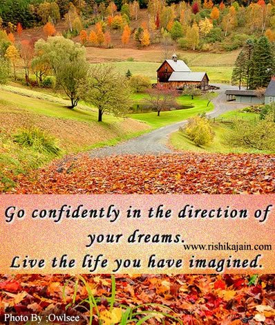 good morning quote go confidently in the direction of your