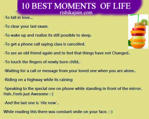 10 BEST MOMENTS OF LIFE ,Humor,JOKE,Life is too short to be serious….Smile & Laugh it out,Inspirational & Motivational Quotes, Pictures ,
