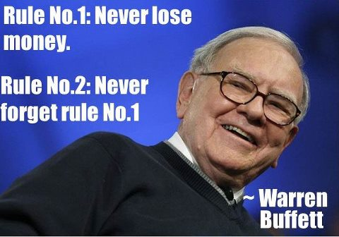 The Rules for Success in Investing  Rule No. 1 : Never lose money. Rule No. 2 : Never forget rule no. 1  ~ Warren Buffett