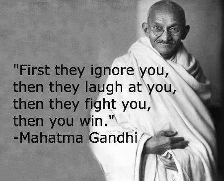 Mahatma Gandhi Quotes On Love Classy Mahatma Gandhi Quotefirst They Ignore You  Inspirational Quotes