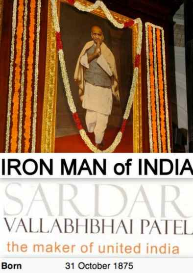 Today is Sardar Patel Jayanti, October 31, The Iron Man of India, Sardar Patel Quotes, Maker of United India