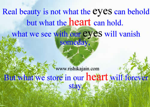 real beauty,,heart,Beautiful Quotes – Inspirational Quotes, Pictures and  Motivational Thoughts