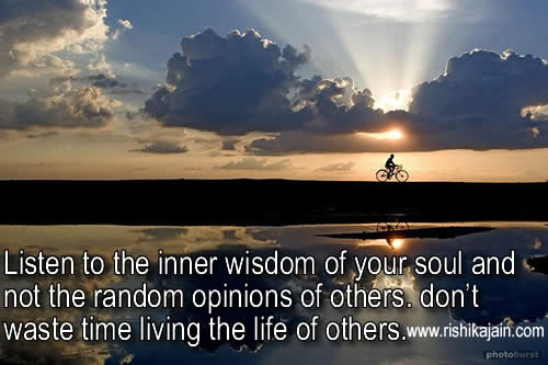 Inspirational Picture Quotes Or Great Souls: Inspirational Quote ;Listen To The Inner Wisdom Of Your