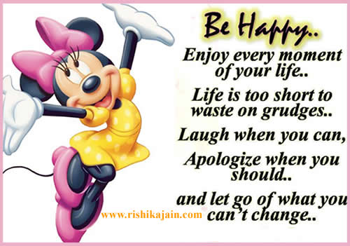happiness,enjoy life, Inspirational Quotes, Pictures and Motivational Thoughts.images,mickey mouse