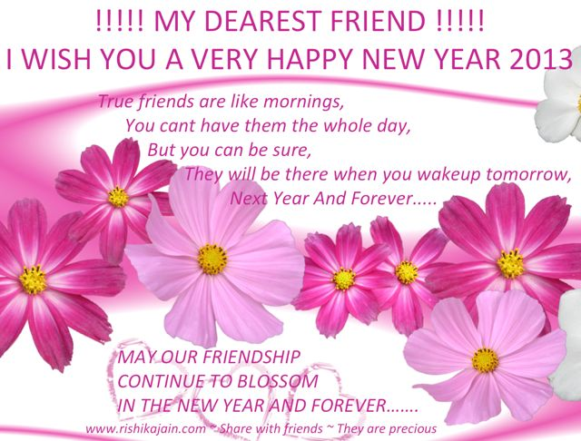 Happy New Year 2013 wishes, Quotes, New year greetings for friends, Friendship Messages, Quotes, Inspirational Pictures, Motivational Thoughts, Seasons Greetings