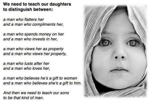 things we need to teach our daughters and sons