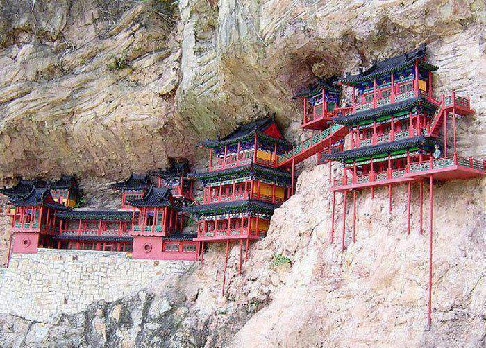Hanging Monastery of Mount Heng,Beautiful Places in the world to visit
