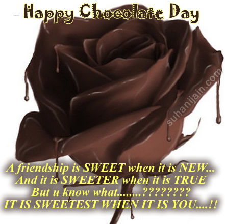 Chocolate Day,friends,quotes,wishes,greetings,chocolate rose
