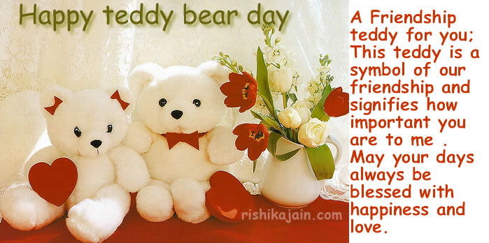 Teddy Day,friends,quotes,greeting cards,messages
