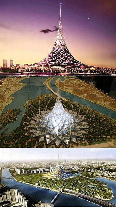 beautiful visiting places, tourism,Crystal Island, the World's Biggest Building Moscow