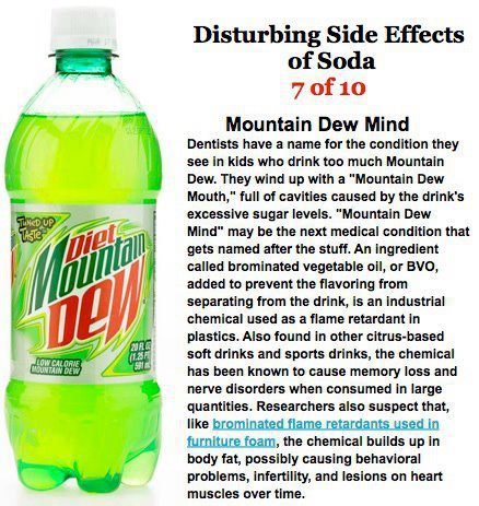 Disturbing side effects of soda ,Mountain dew,health tips