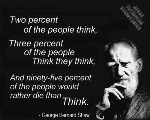 George Bernard Shaw quotes,thoughts,thinking